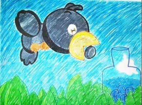 晚安英语故事丨The Crow And The Jug 《乌鸦喝水》