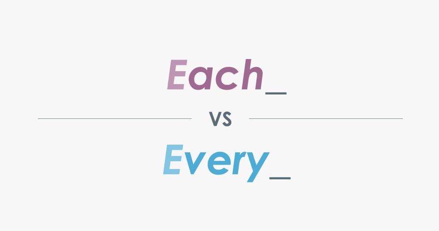 Each Every的区别和用法分别是什么?Everyone和Every one的有哪些区别?-KET/PET语法知识点